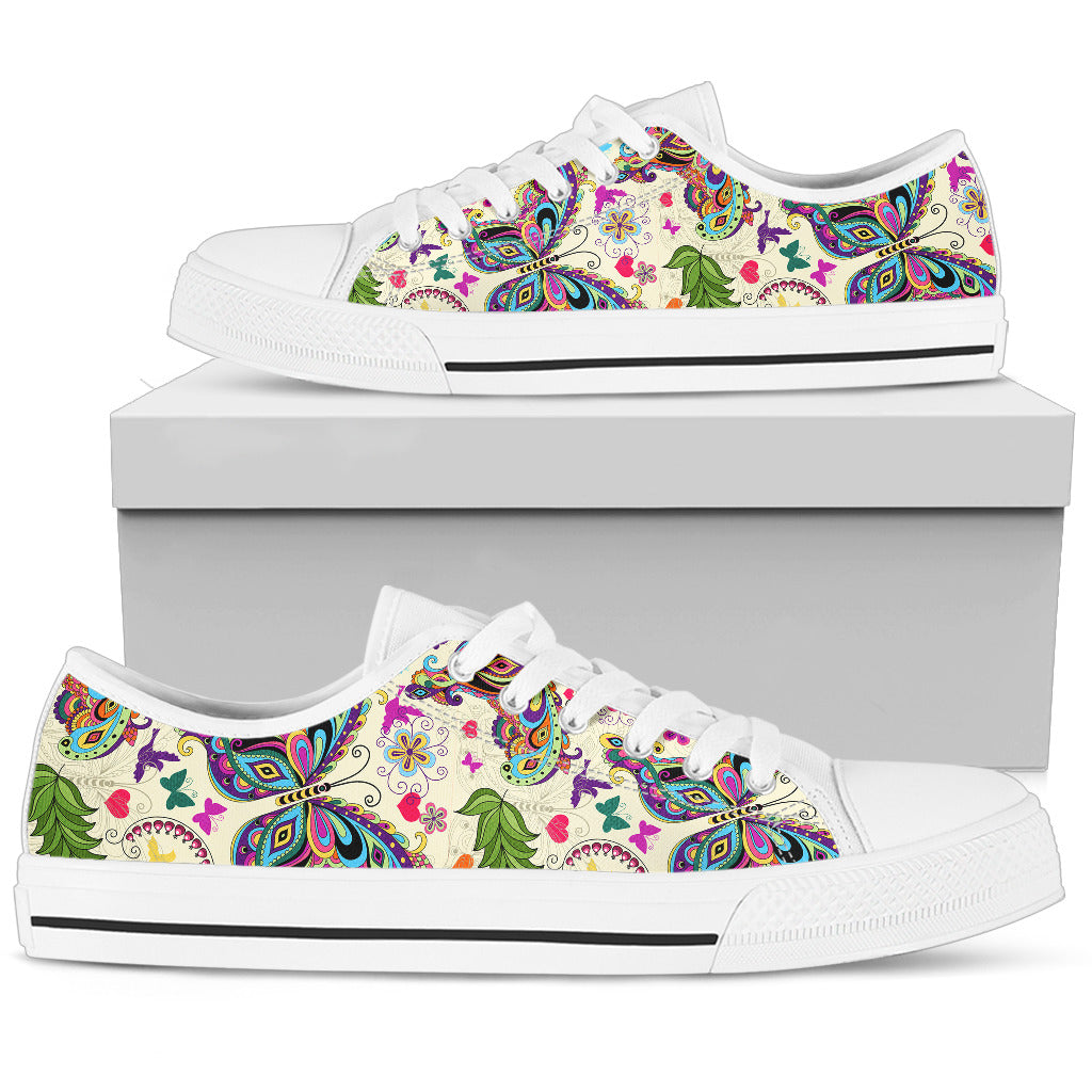 Butterfly Low Top White
