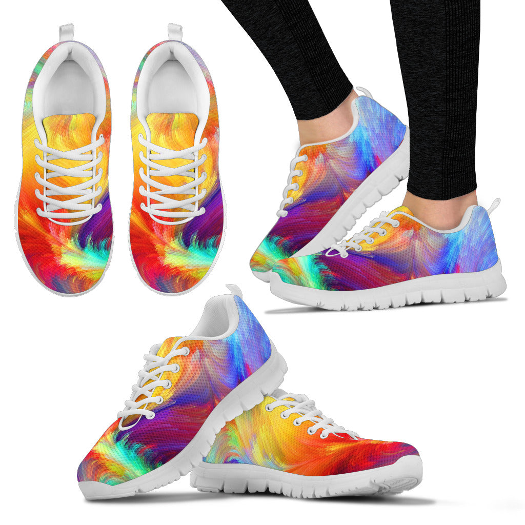 Rainbow colors White Sole Sneakers