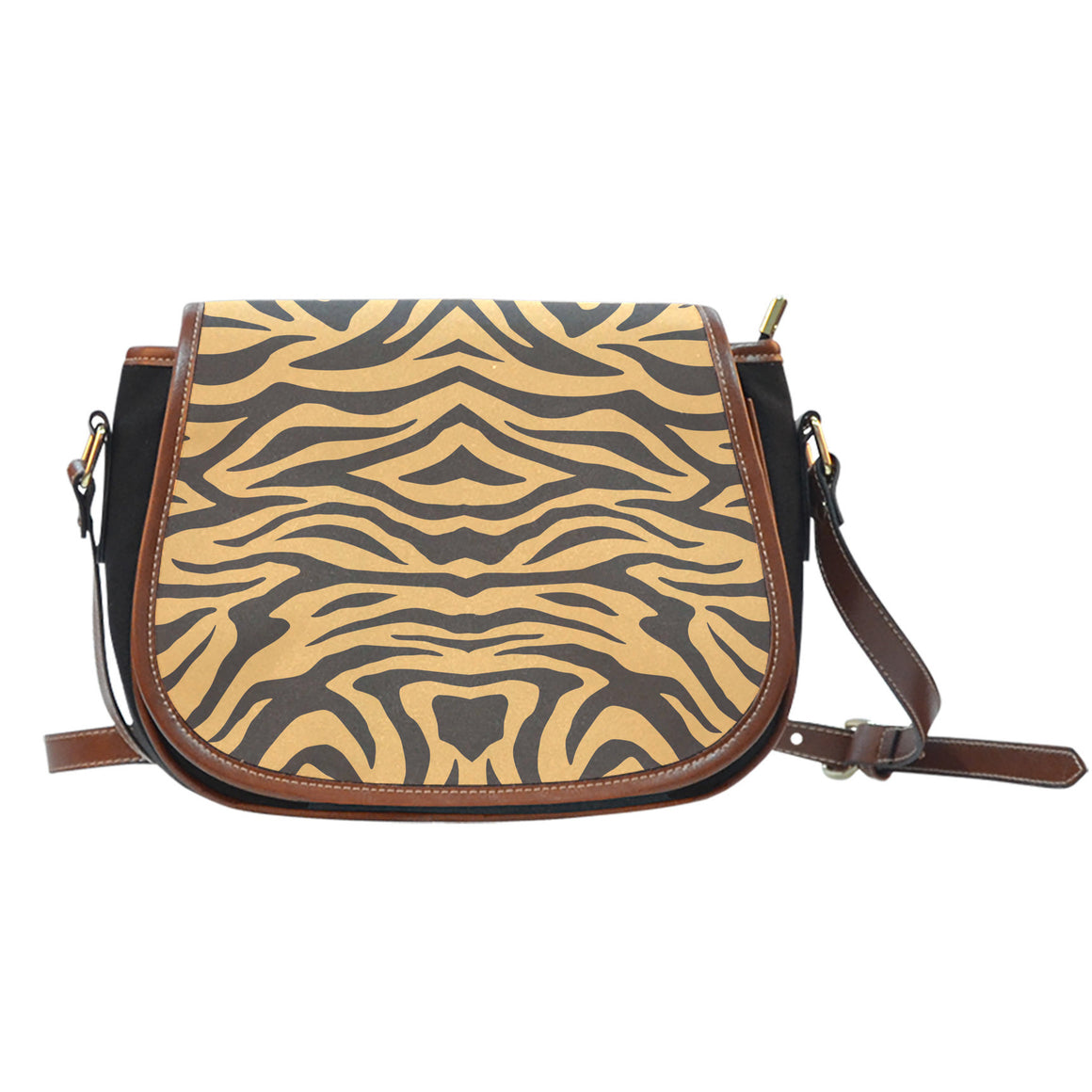 Tiger Print Saddle Bag