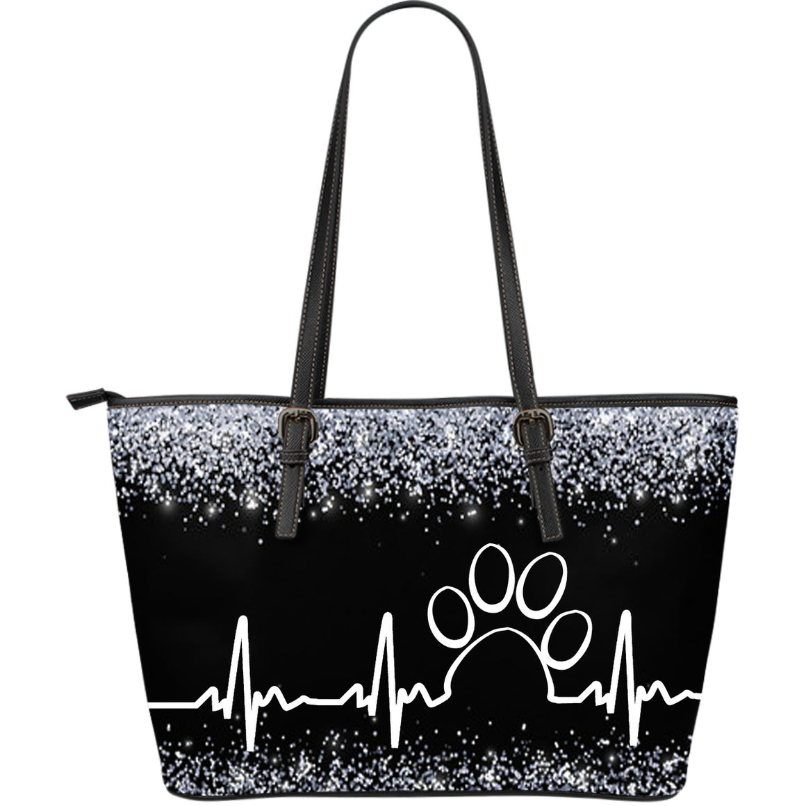 Paw Heartbeat Large Leather Tote