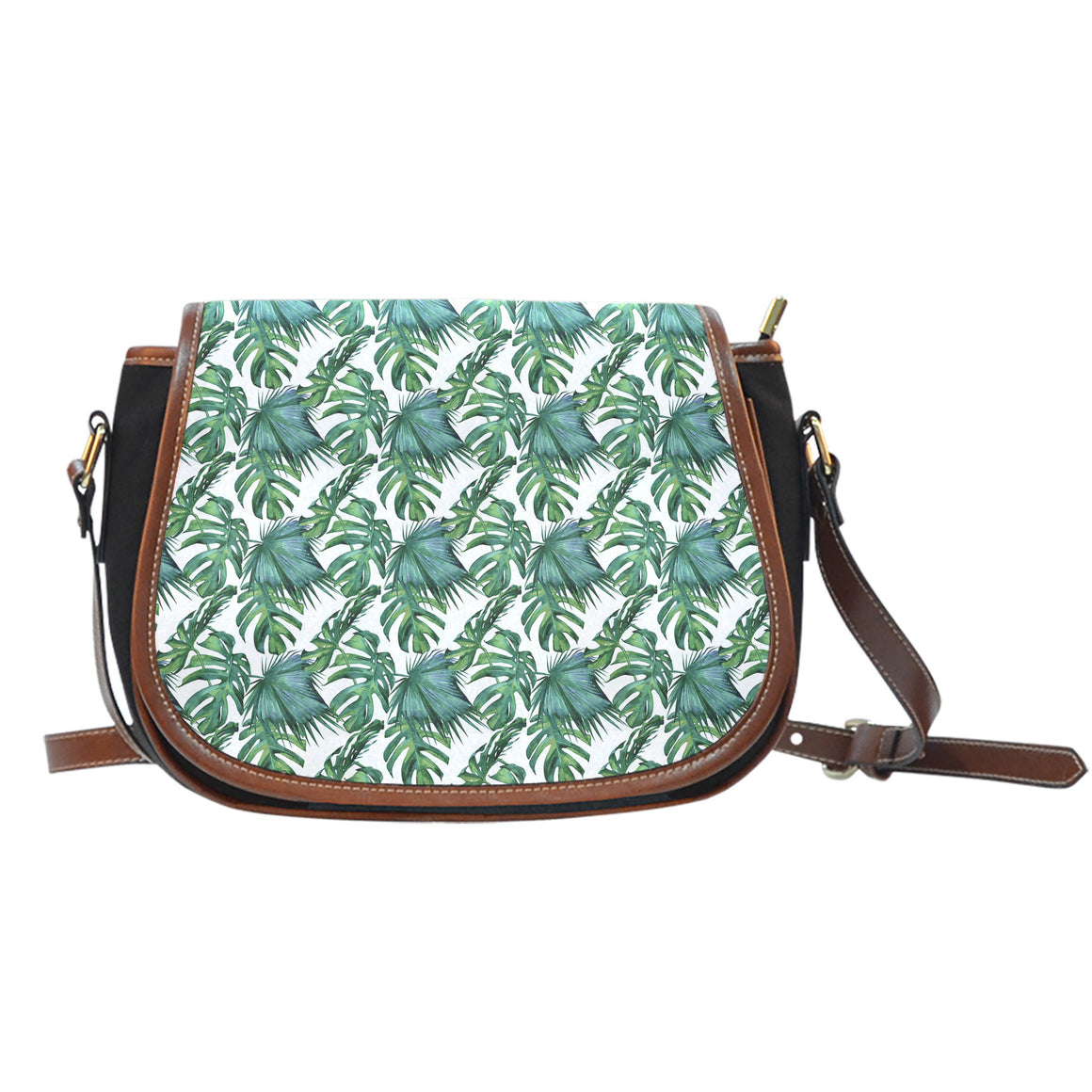 Tropical Canvas Saddle Bag