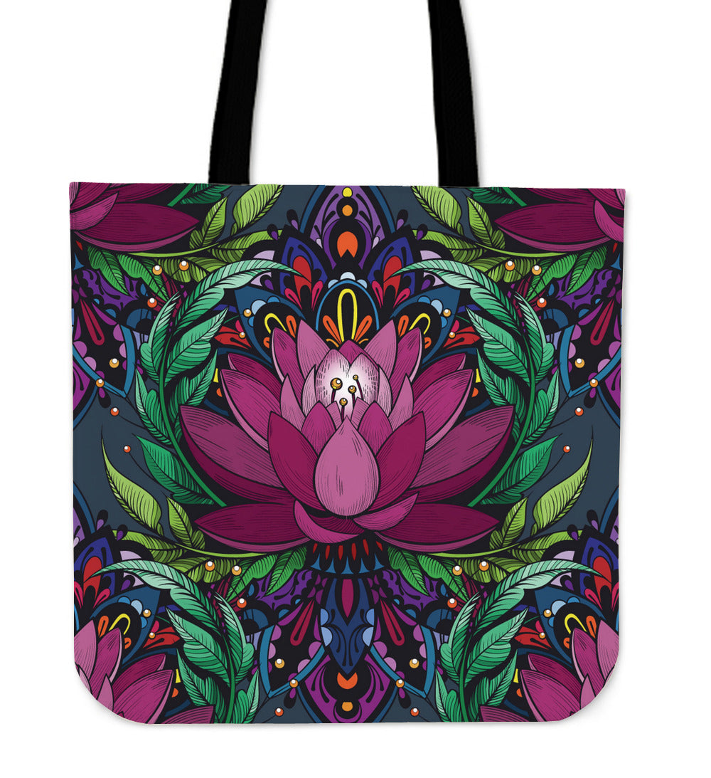 Beautiful Lotus Cloth Tote Bag