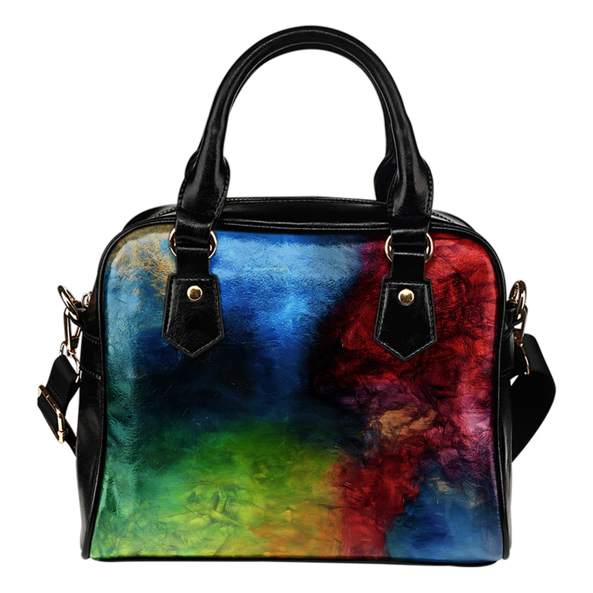 Blue Red Art Shoulder Bag