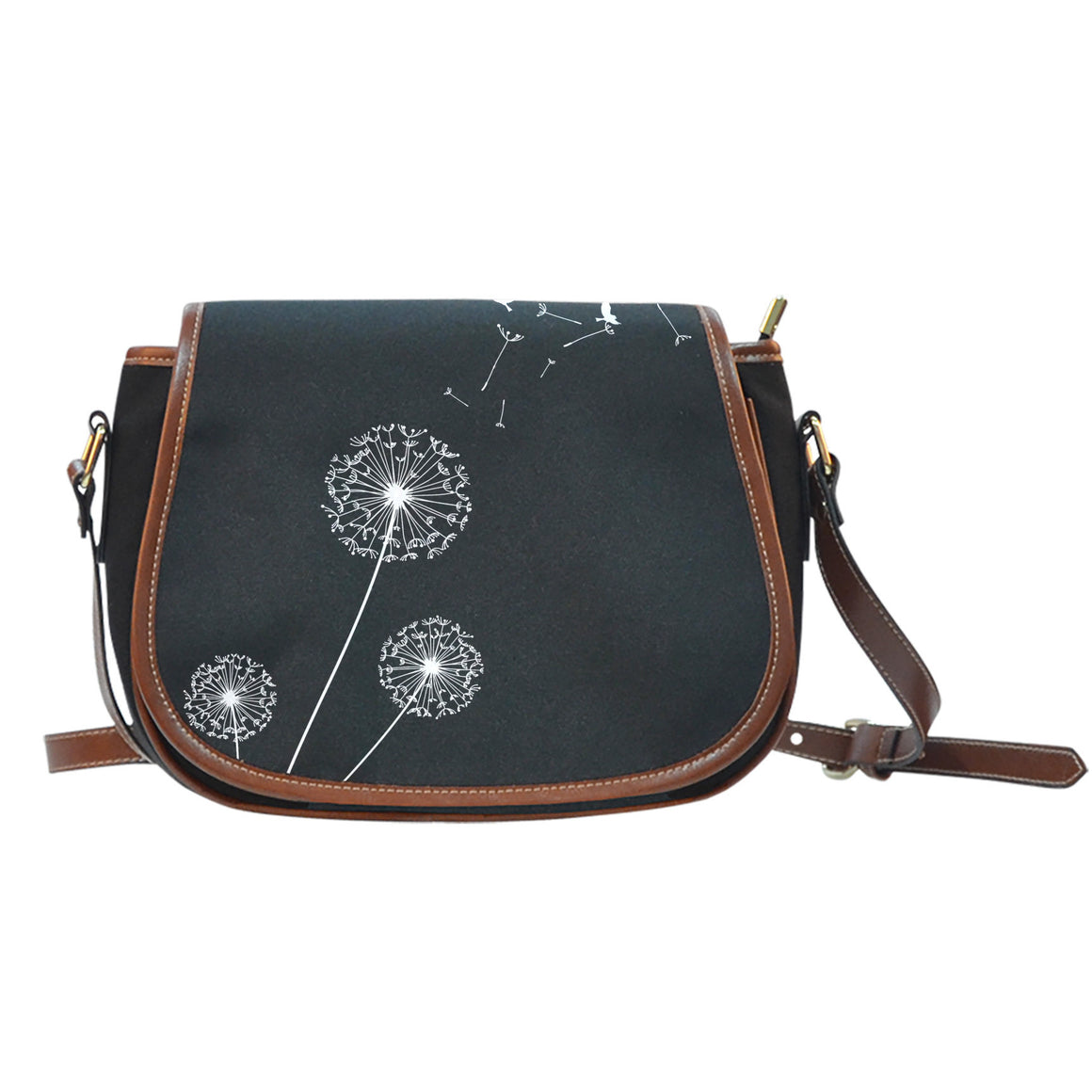 Live Free Black Saddle Bag