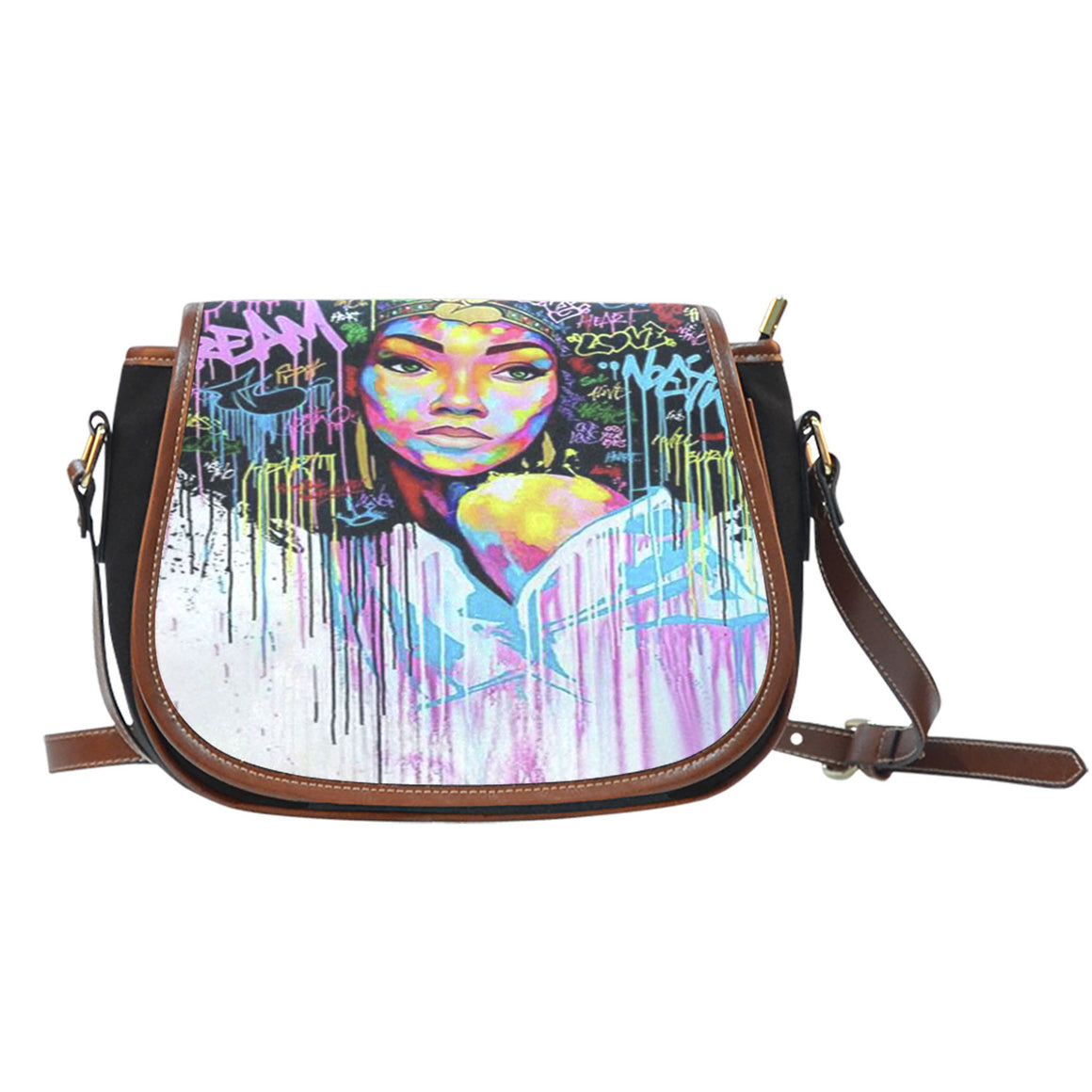 Ladies- A Work Of Art Saddle Bag