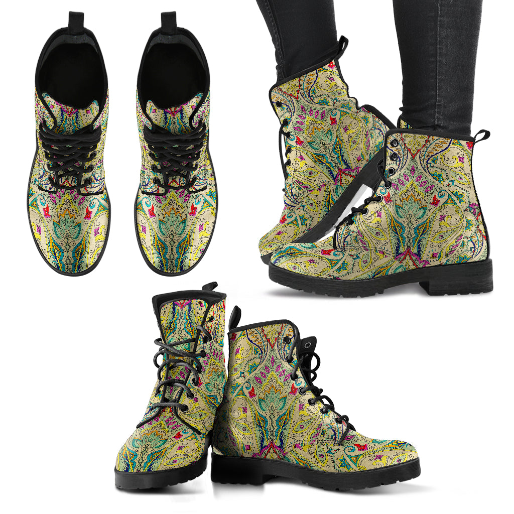 Vintage Paisley Handcrafted Boots
