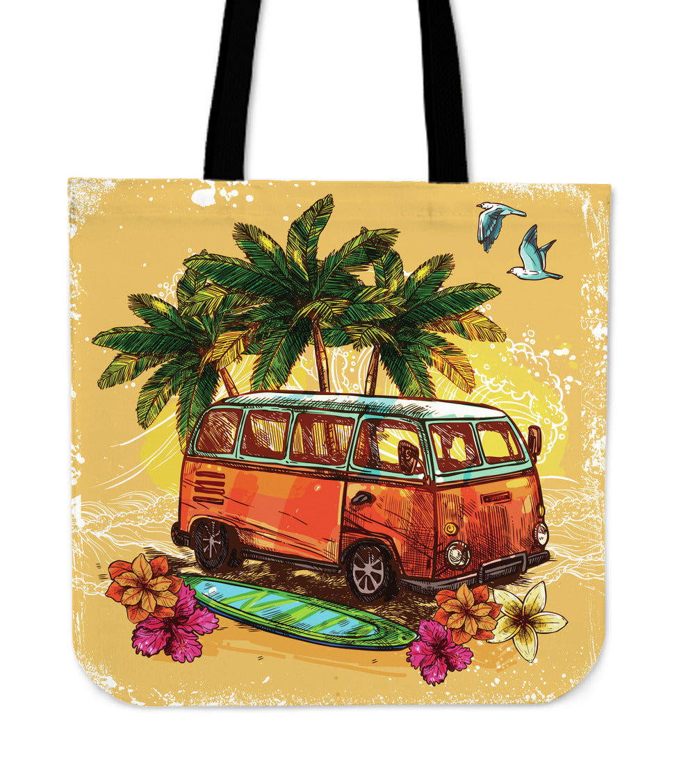 Hippie Van Cloth Tote Bag