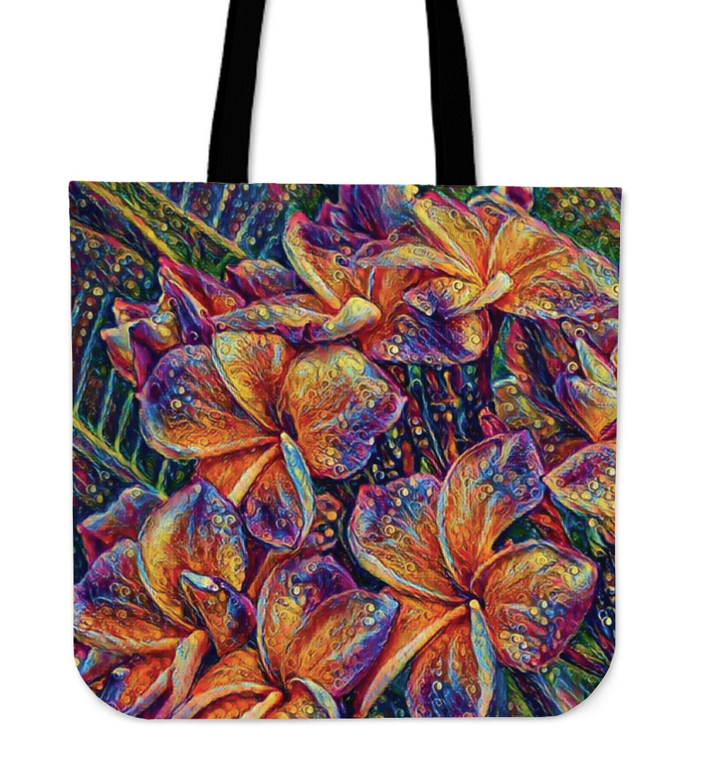Bold Floral Cloth Tote Bag