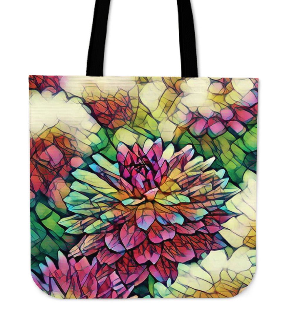 Bright Flower Cloth Tote Bag