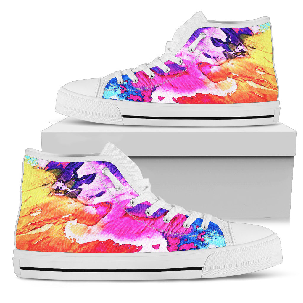 Women's High Tops Splash of Color (White Soles)