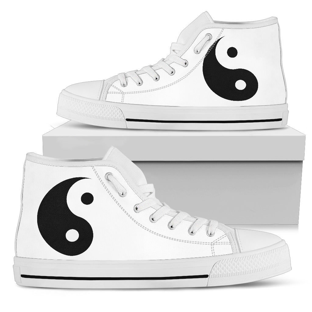 Yin Yang Womens High Top Black