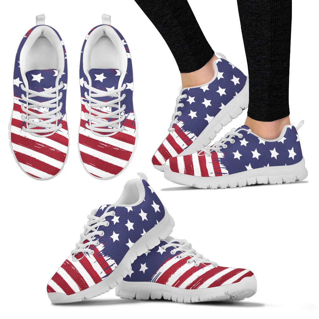 American Flag White Sneakers