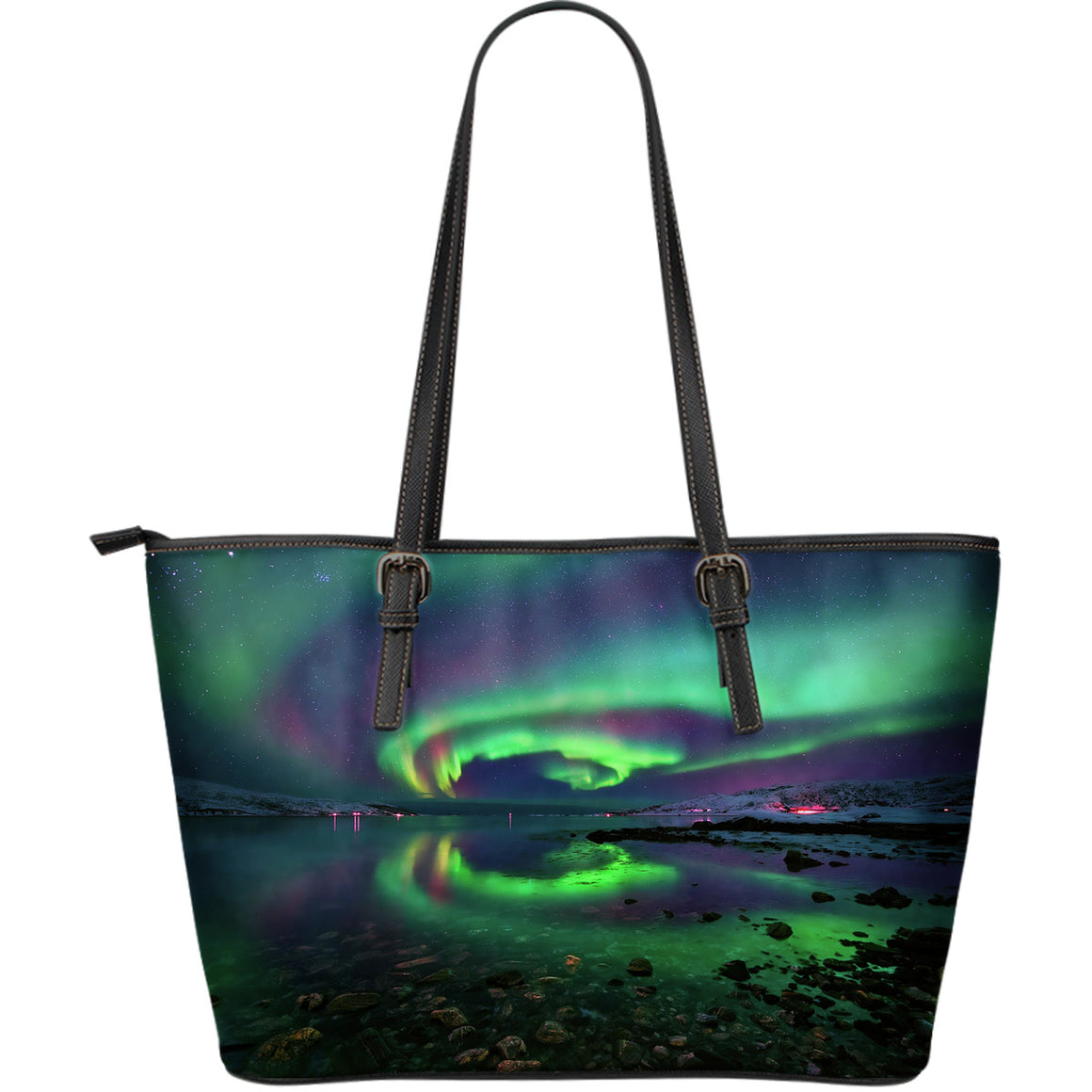 Northern Lights Large Leather Tote