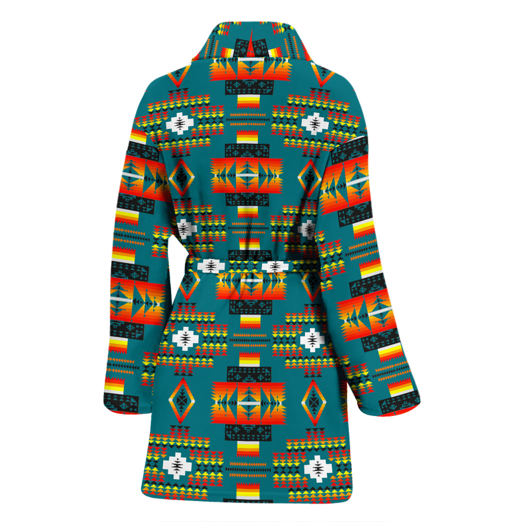 Seven Tribes Teal Women's Bathrobe