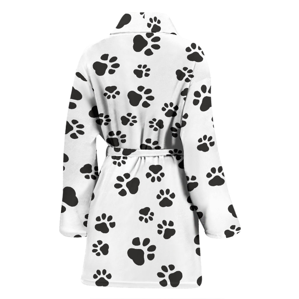 Paw Print Women's Bathrobe