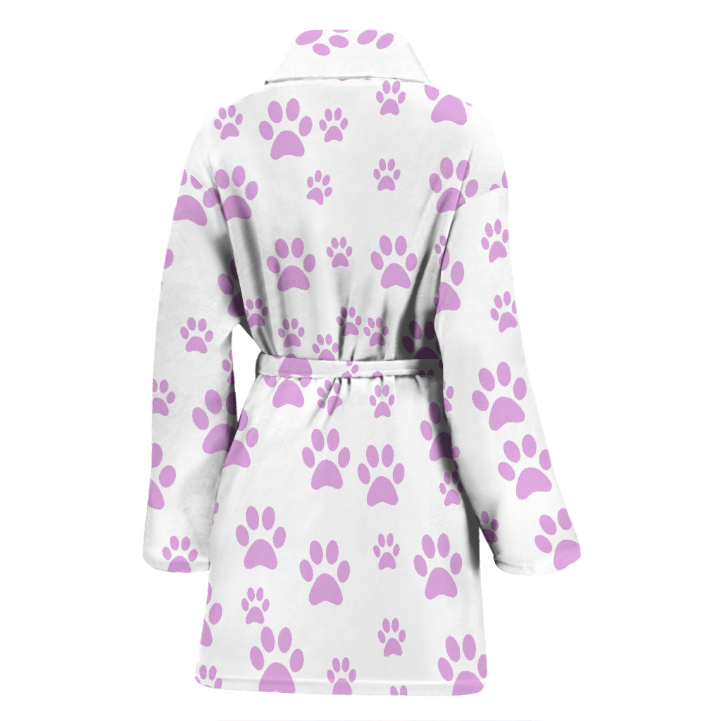 Women's Paw Print Bathrobe