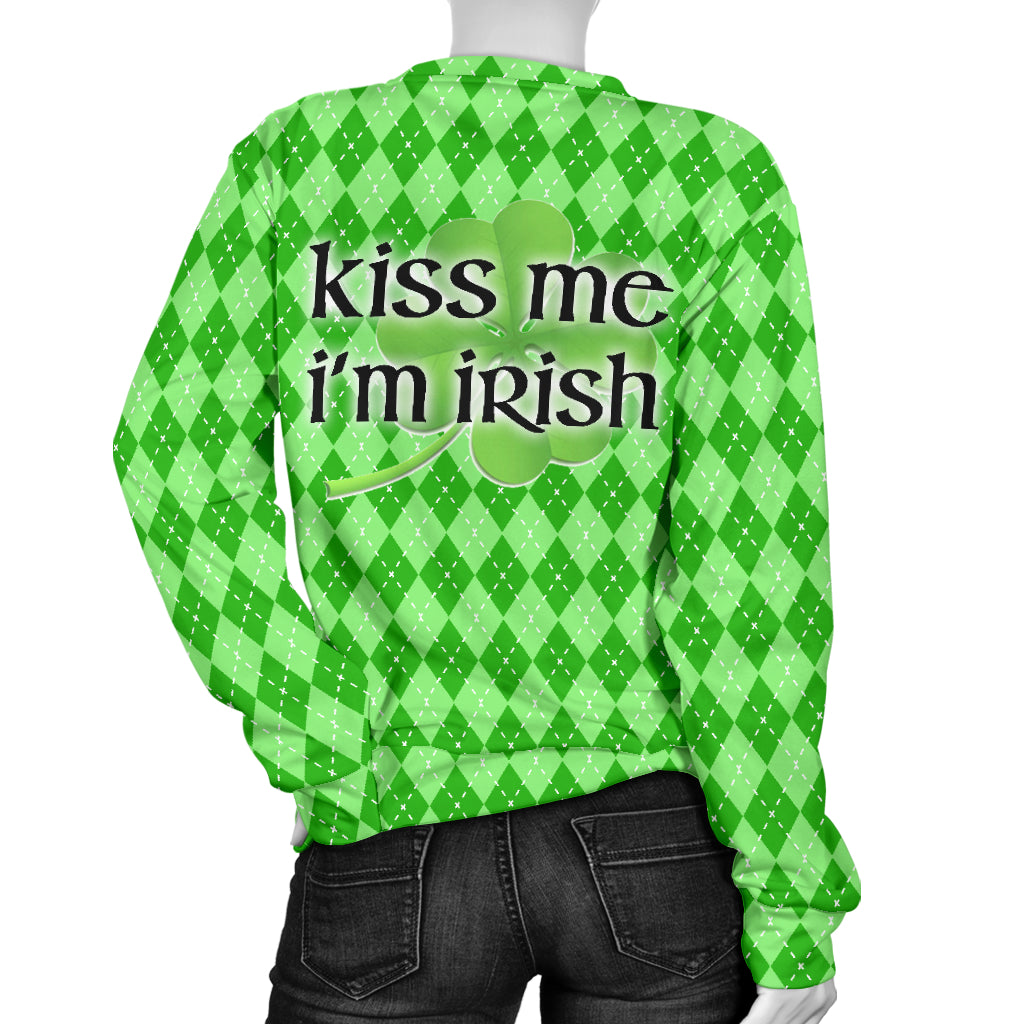 St Patricks Kiss Me Women's Sweater