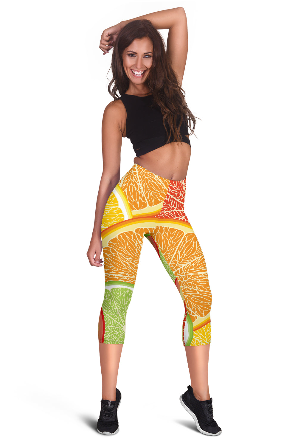 Citrus Slice Women's Capris Leggings