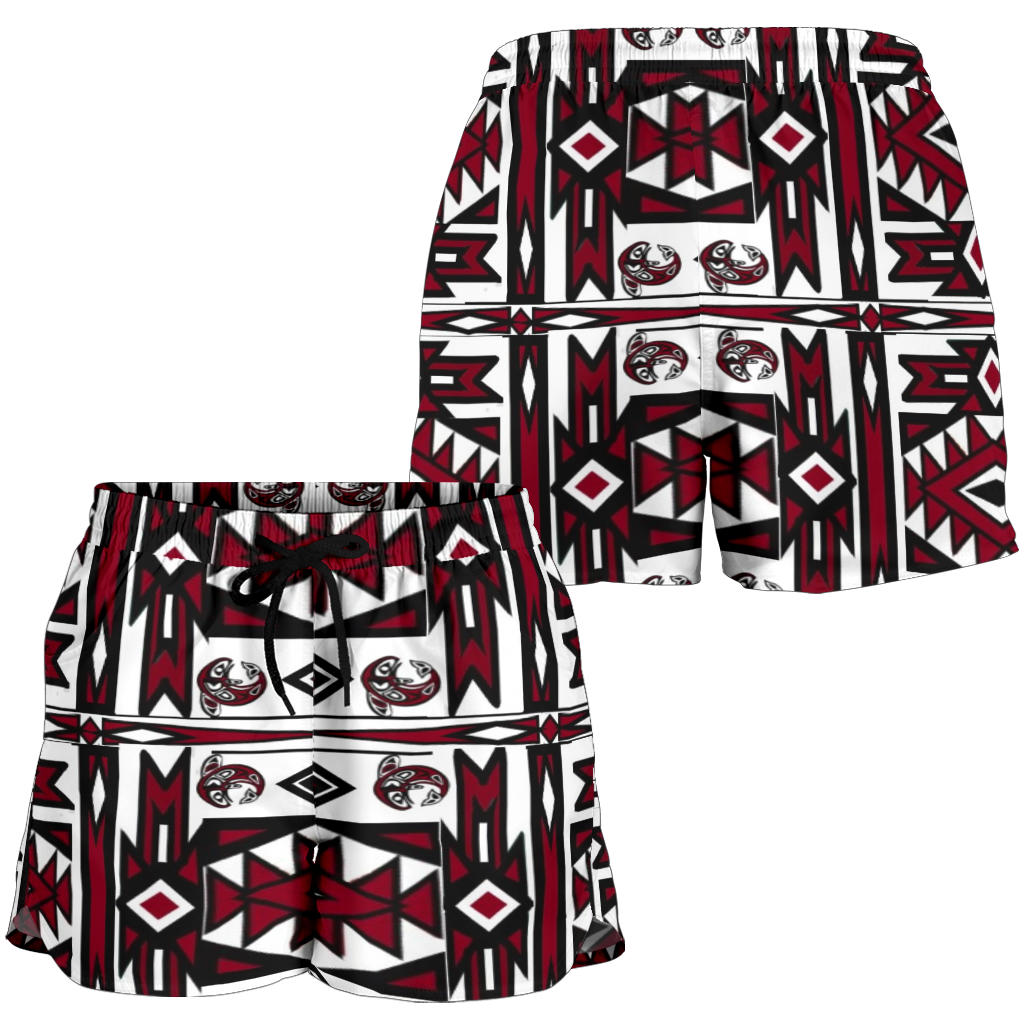 Native Women Shorts Red