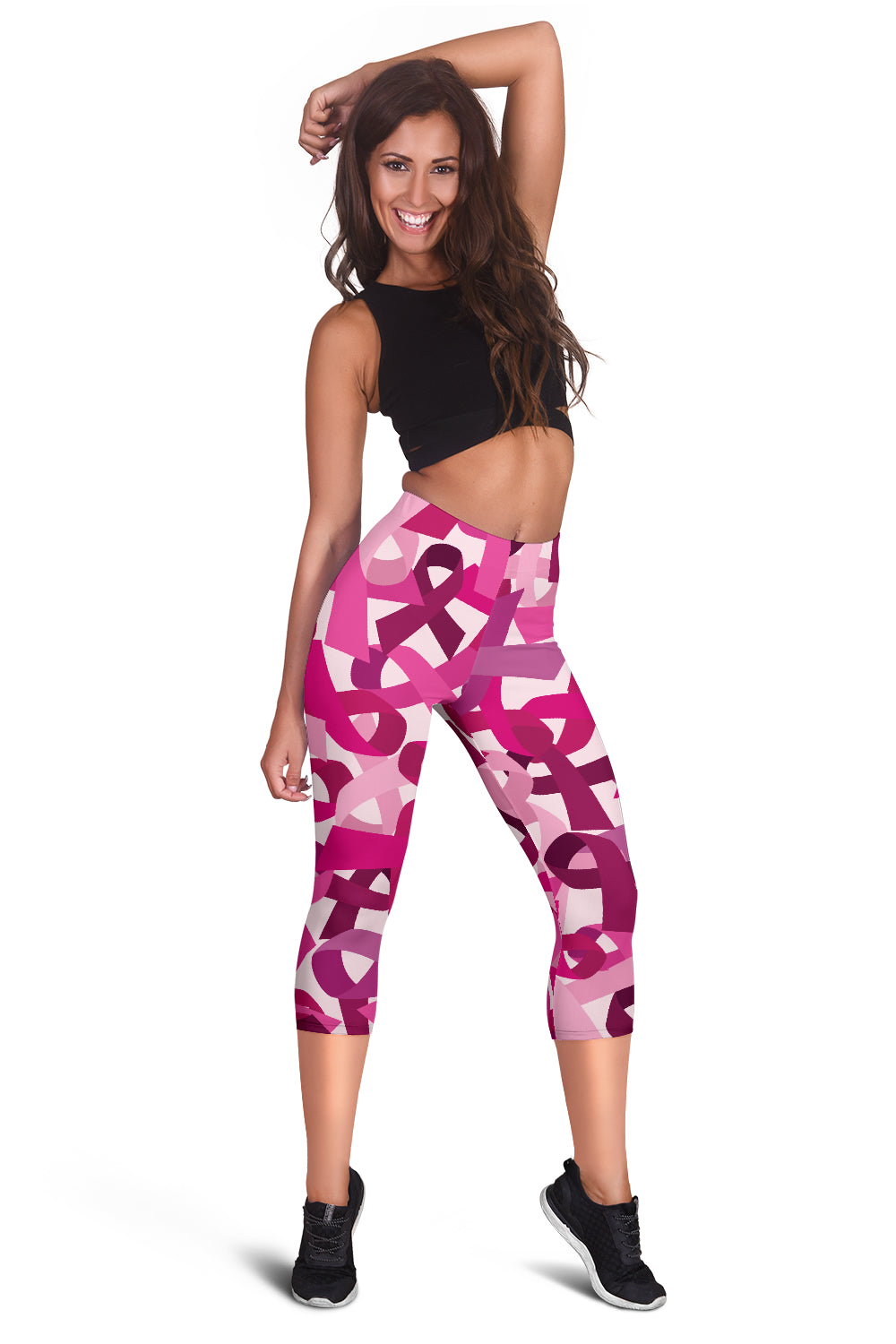 Breast Cancer Awareness Women's Capris Leggings