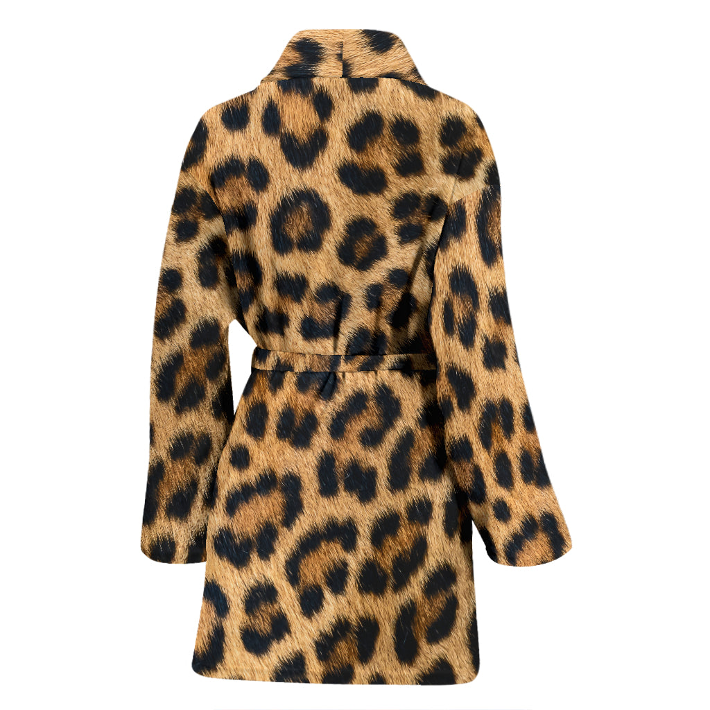 Leopard Fur Print Women's Bathrobe