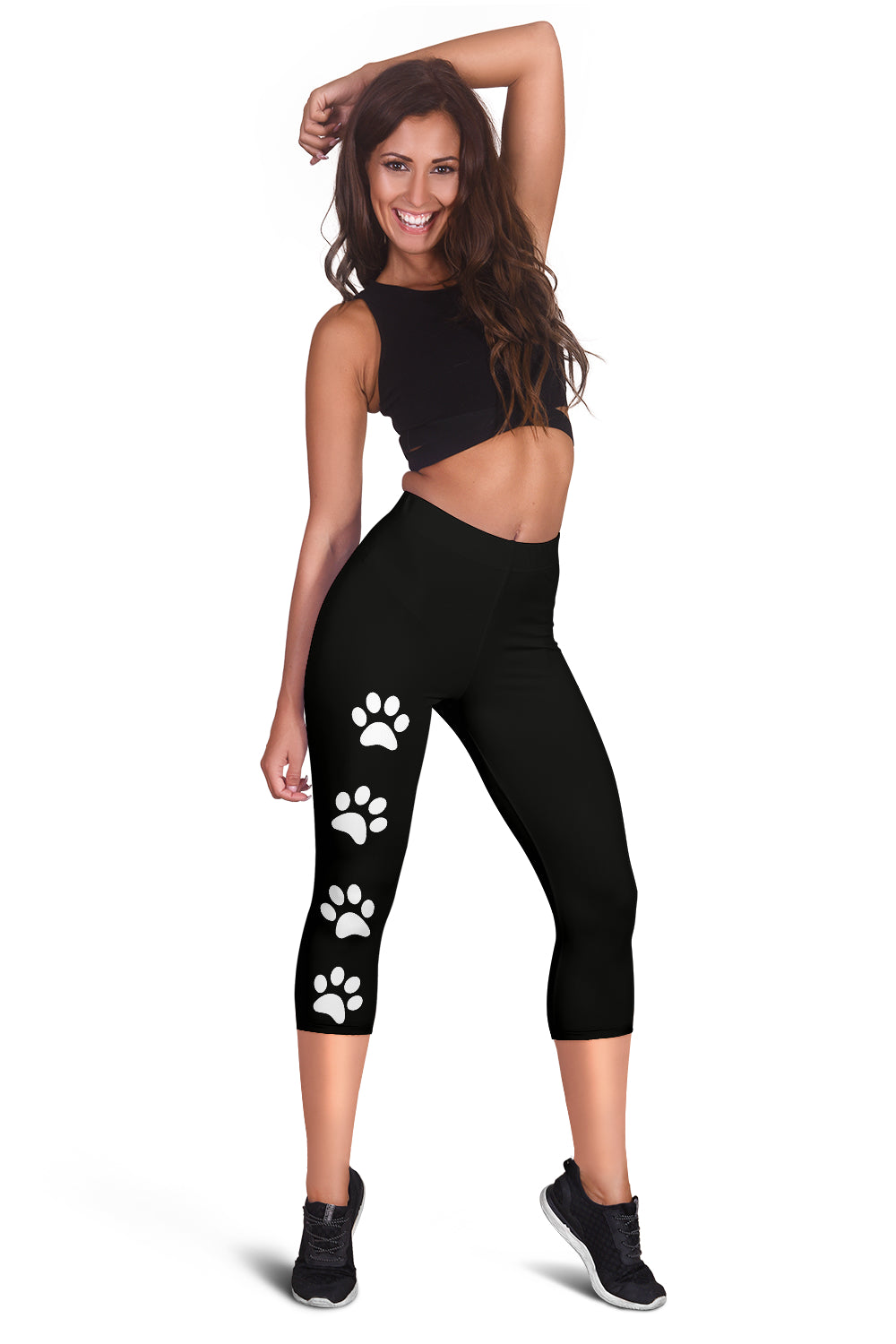 Women's Paw Print Capris Leggings