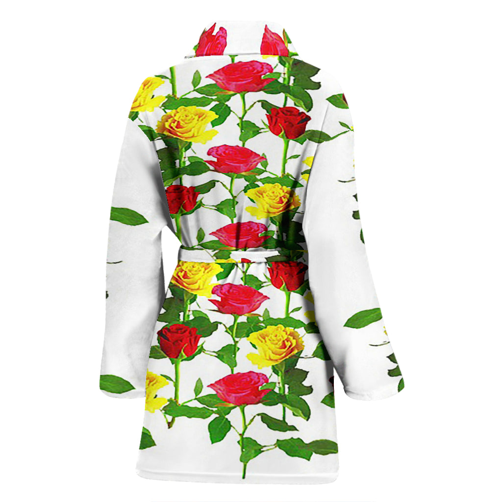 Women's Bathrobe - Roses