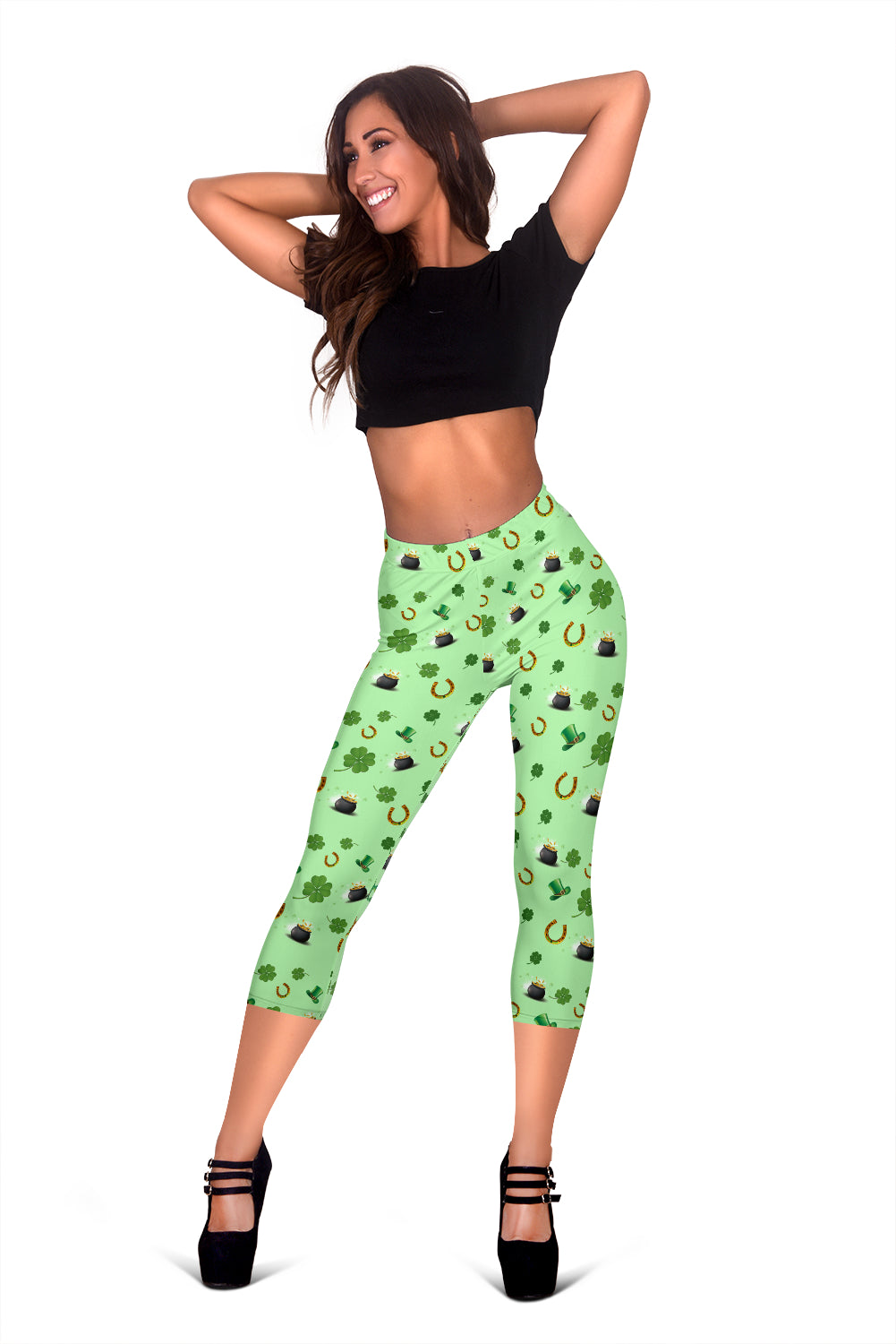 St Patricks Day Women's Capris Leggings