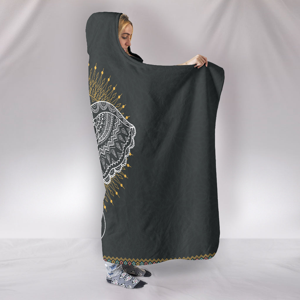 Elephant Abstract Hooded Blanket