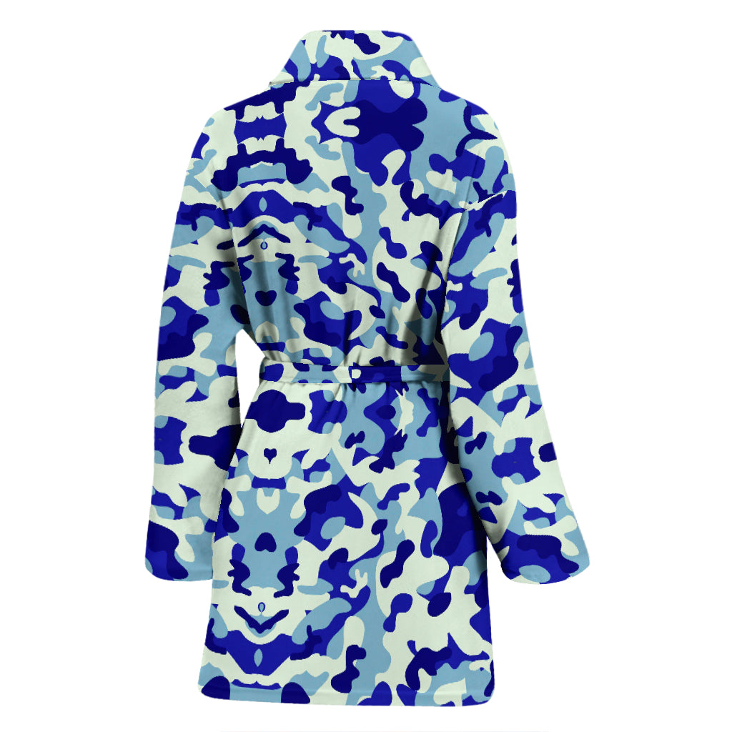 Blue Camouflage Women's Bathrobe