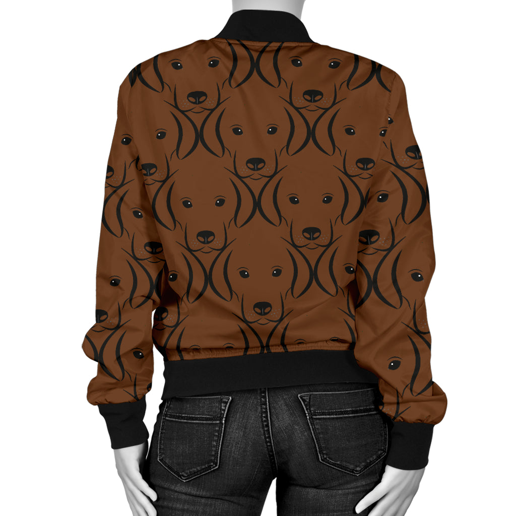 Chocolate Lab Women's Bomber Jacket