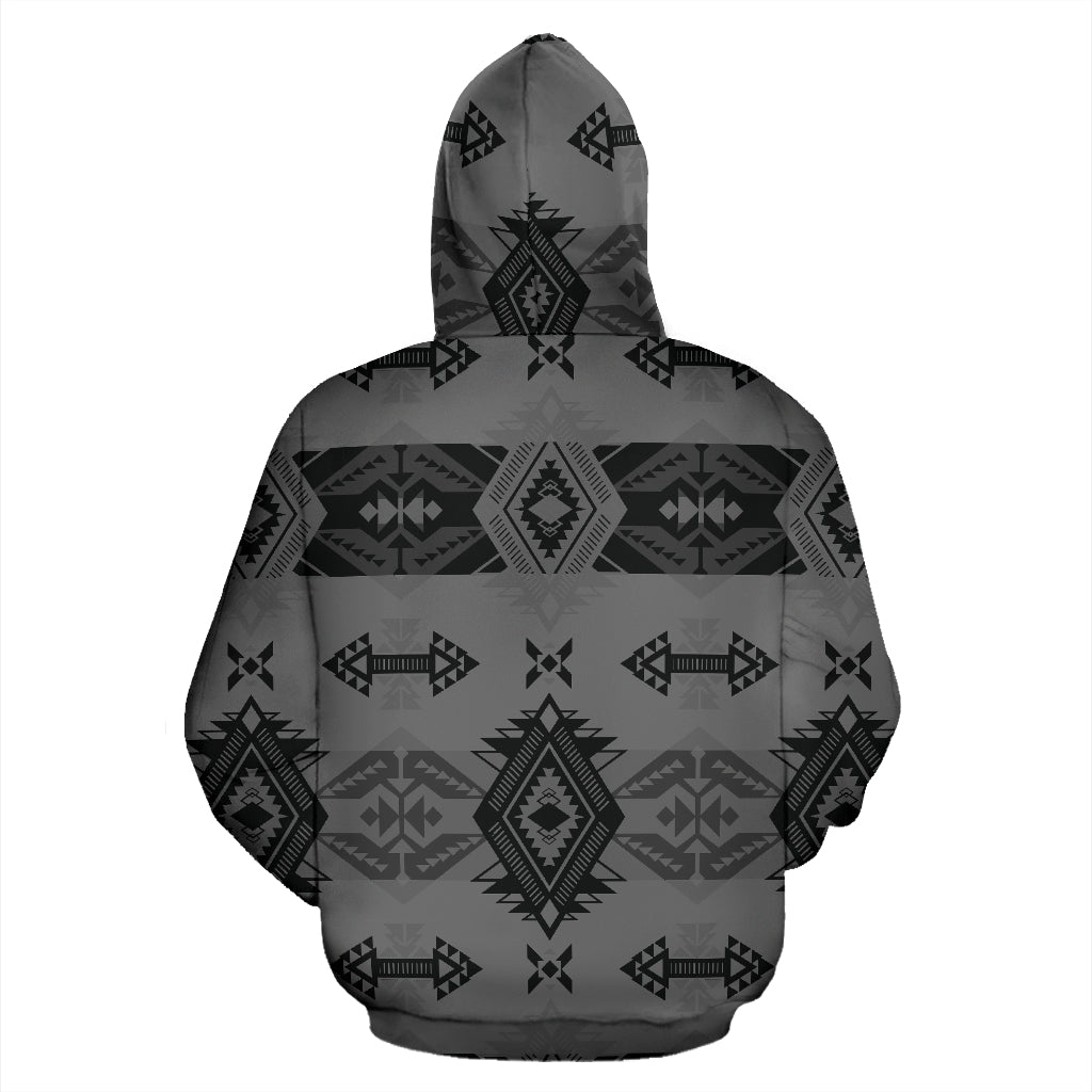 Sovereign Nation Gray Sokapi Zip-Up Hoodie