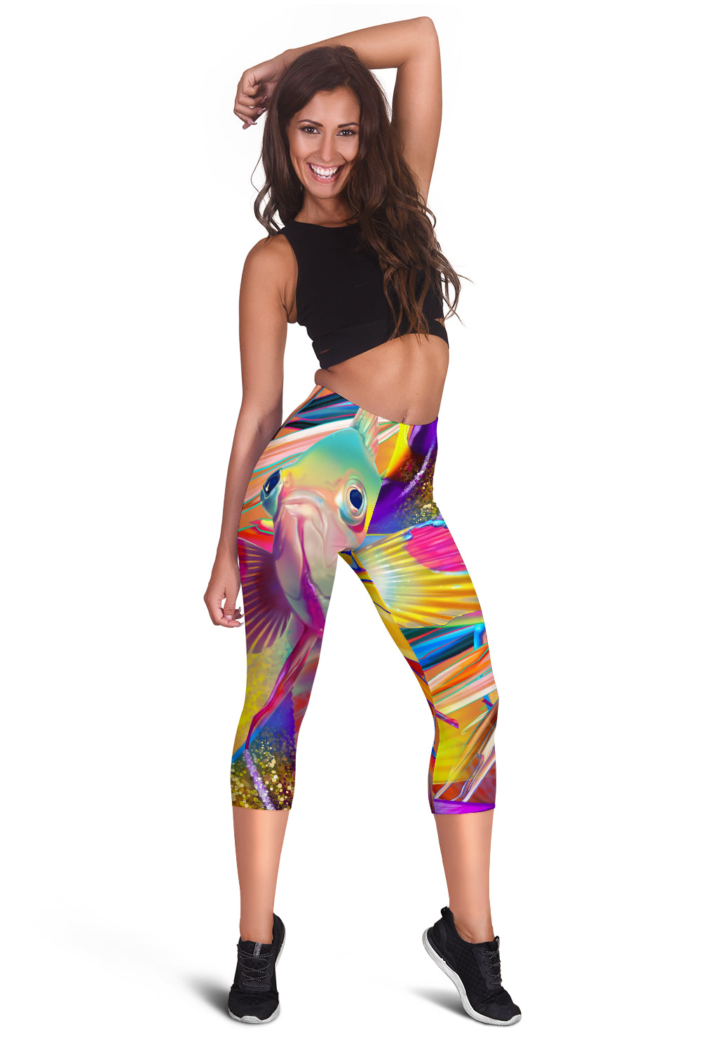 Fish Frenzy Women's Capris Leggings