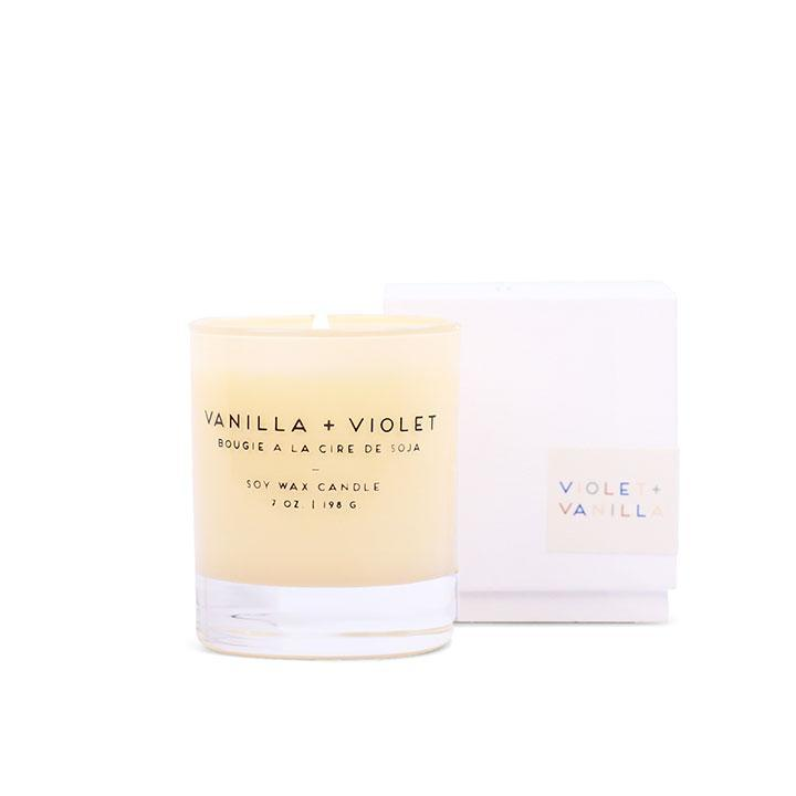 Statement Candle - Vanilla + Violet