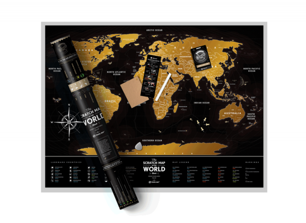 Luxury Edition World Scratch Map Black