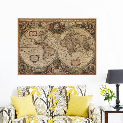 Vintage Retro World Map