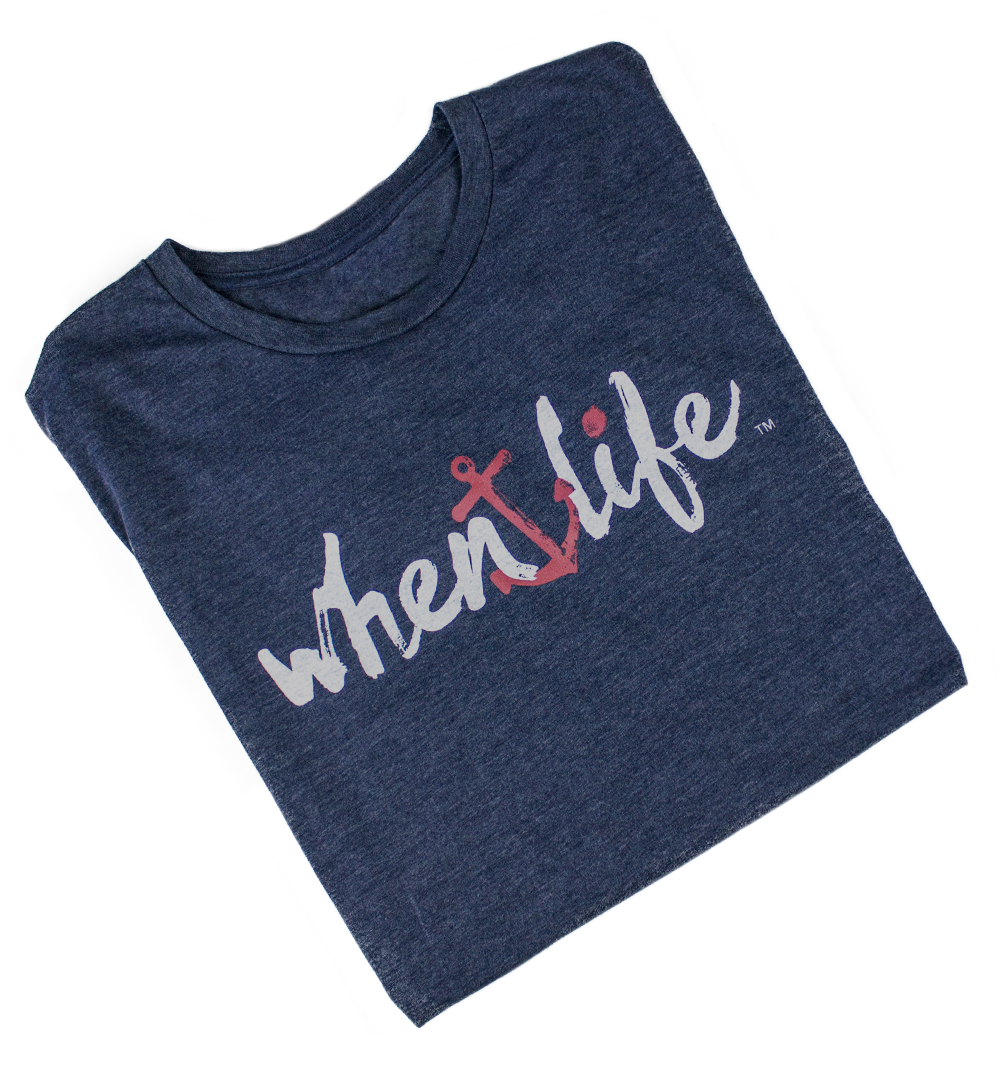 When Life Anchor Inspirational Quote Shirt