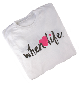 When Life Heart inspirational Quote Shirt