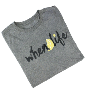 When Life Lemon inspirational quote shirt