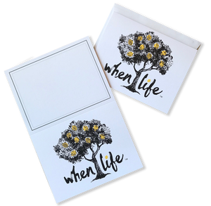 When Life Stationery Note Cards