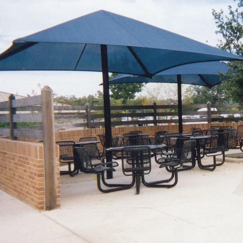 Single Post Pyramid Bleacher Cover 14x14
