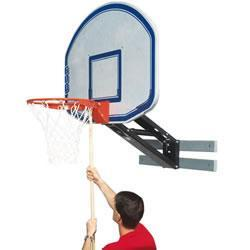 Bison QwikChange Graphite Basketball Shooting Station with Fan Shaped Backboard