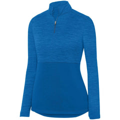 Ladies Shadow Tonal Heather 1/4 Zip Pullover