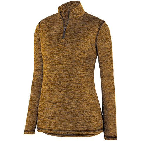 Ladies Intensify Black Heather 1/4 Zip Pullover