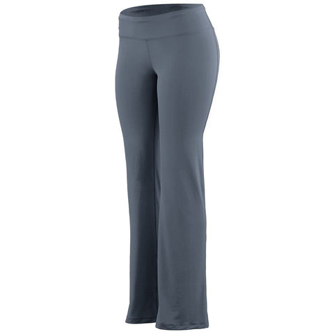 Ladies Wide Waist Brushed Back Poly/Spandex Pant