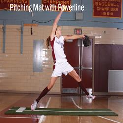 ProMounds Jennie Finch Pitching Mat with Powerline