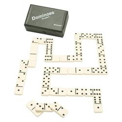 Deluxe Double-Six Dominoes Set with Case