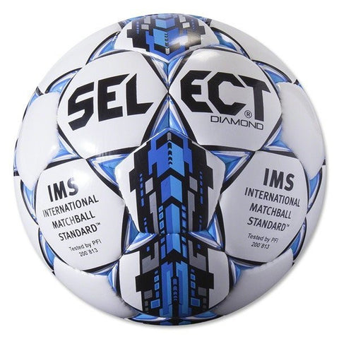 Select Diamond Soccer Ball - Blue/White, Size 4