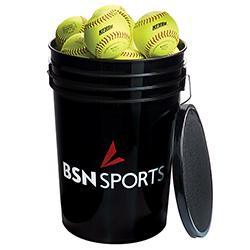 "Bucket w/2 dz 11"" Softballs"