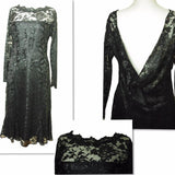 Black Lace Dress With Satin lining - VzCollection